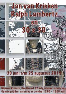 Expositie 'Jan van Krieken, Ralph Lambertz en 30×30'